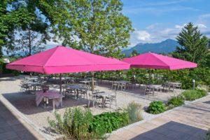 Rosa parasoll ljus&comfort